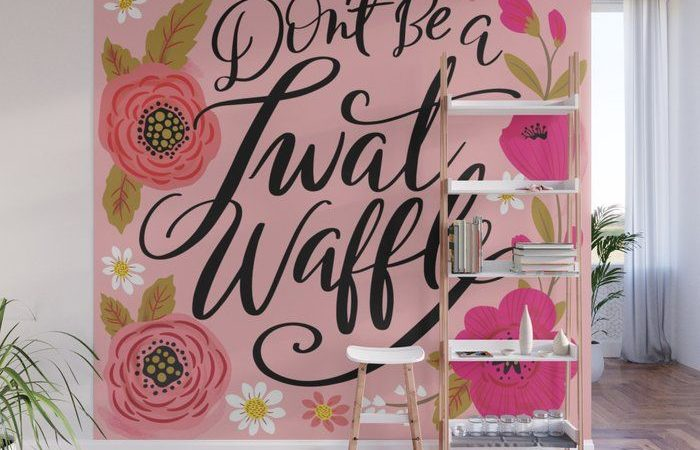 Décoration Murale Design  : Pretty Swe*ry: Don't Be a Twat Waffle Wall Mural #mural #wallmural #society6 #ar…