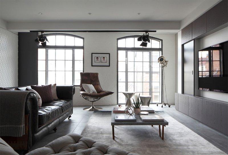 Salon du loft de luxe