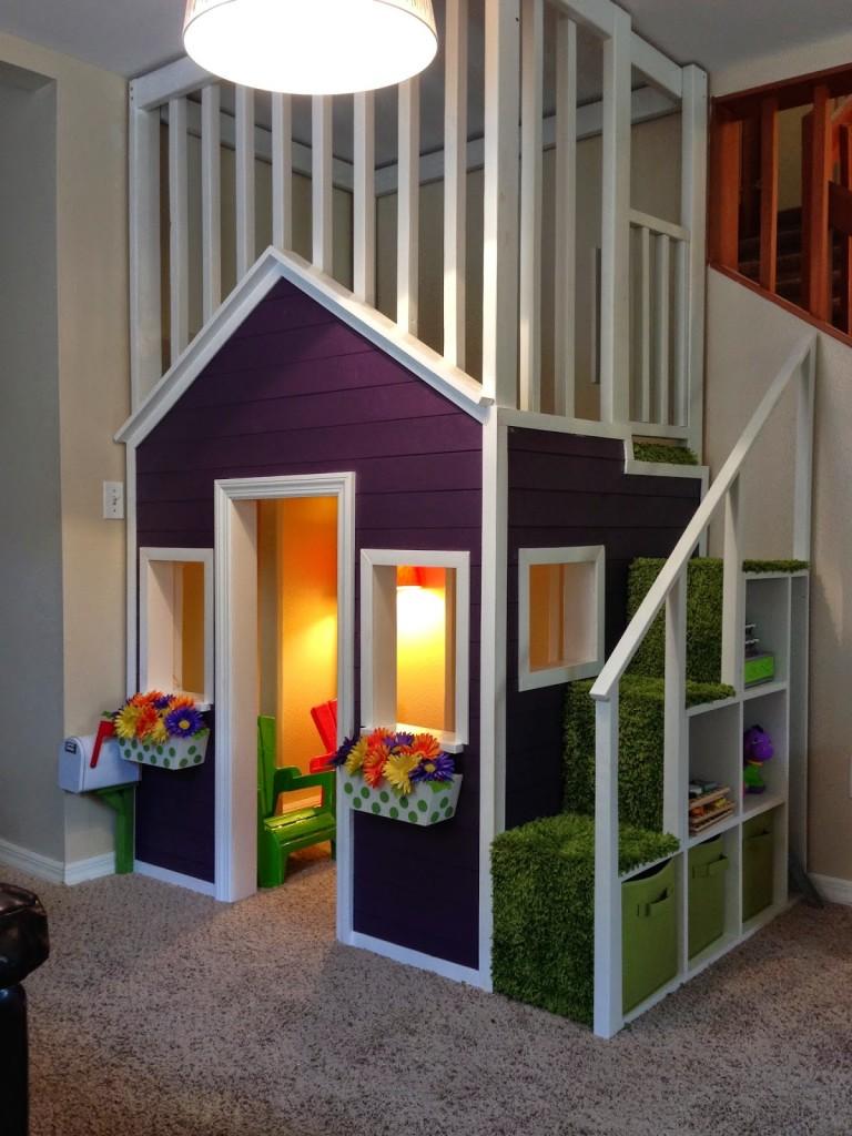 15 idées de maisons de jeu en salle pour bricolage