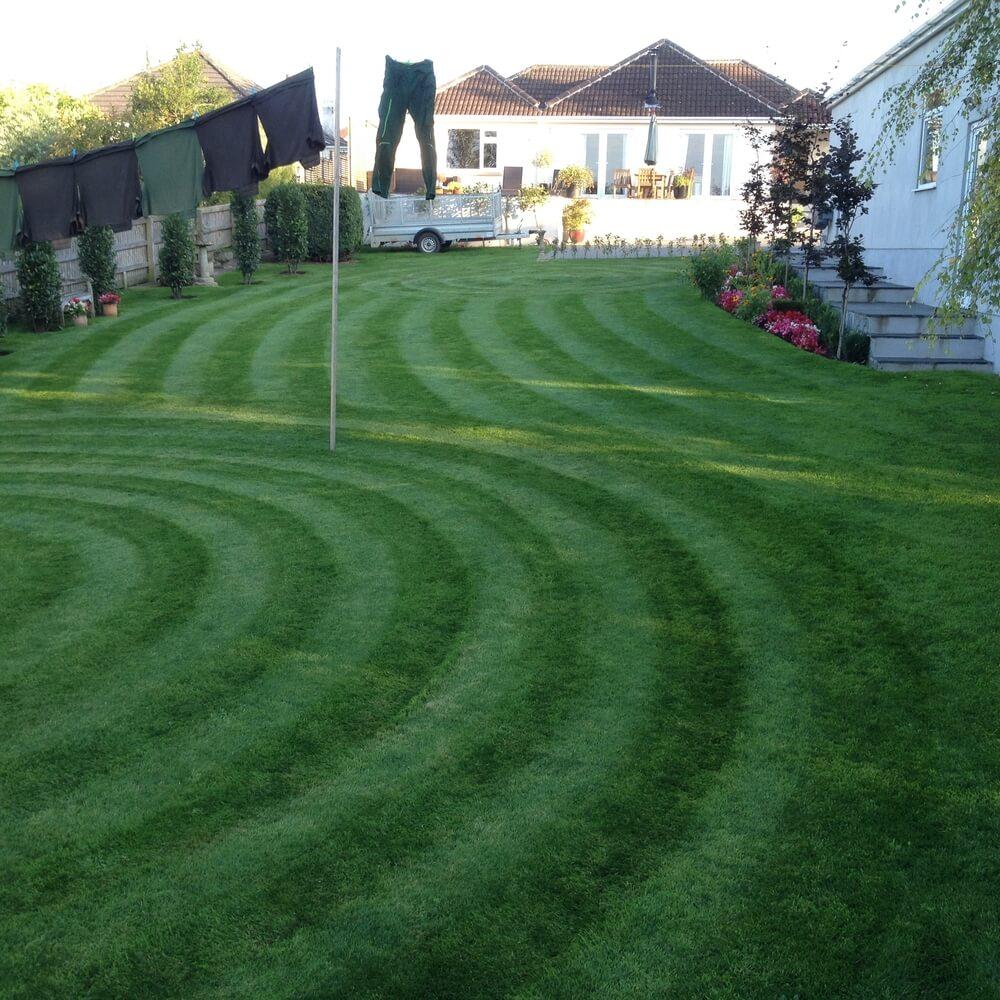 Stripe Your Lawn Wavy Design