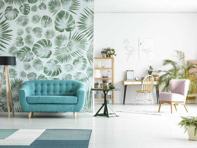 Papier peint imprimé Palm sur un mur