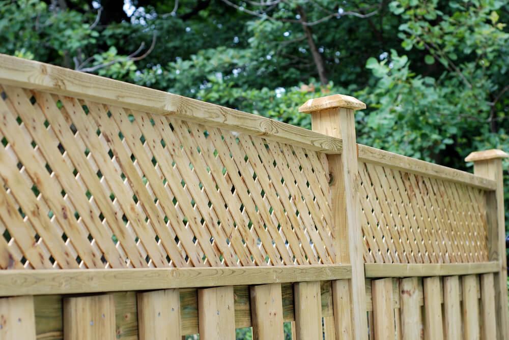 Panneau de treillis de clôtures de confidentialité partielles
