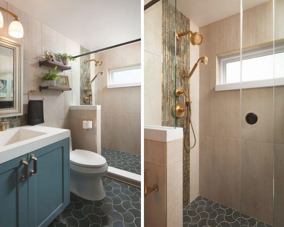 Salle de bain conçue par Nowell Vincent, CKBD; Photographie de Chris Reilmann par Chris Reilmann
