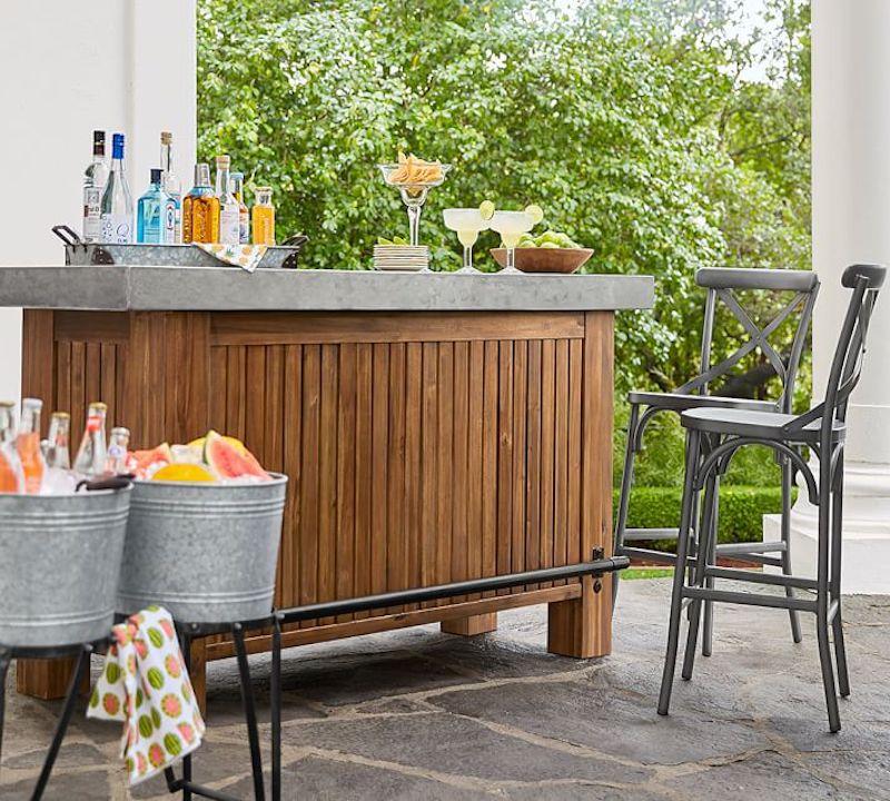 bar extérieur - bar en poterie