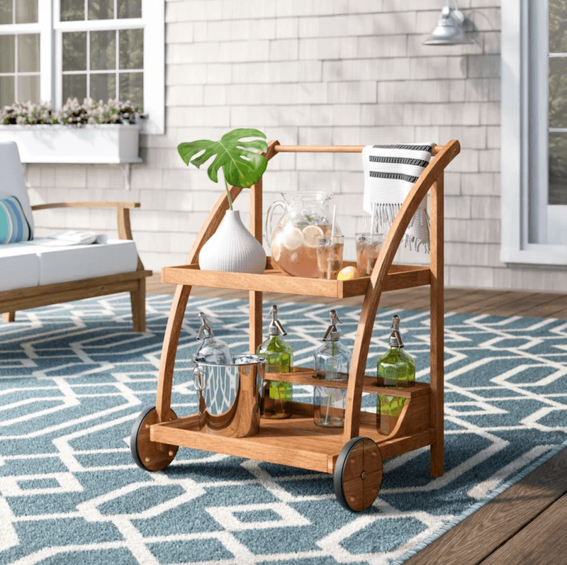 bar en plein air - chariot de bar wayfair