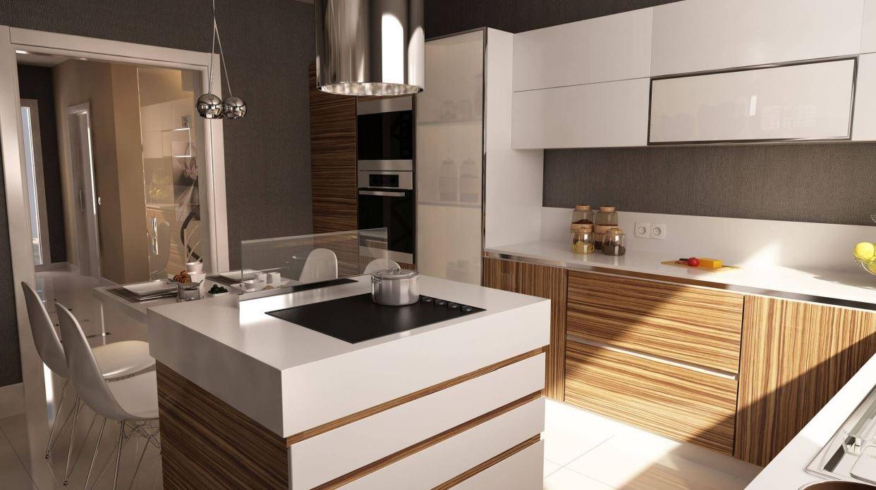 Une cuisine en forme de L peut aussi être intime.