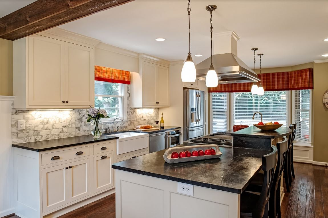 In lieu of 2 walls, a galley kitchen can have one wall and one long island.