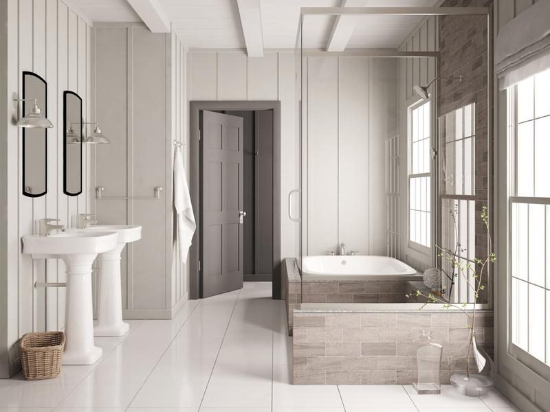 Salle de bain moderne et propre