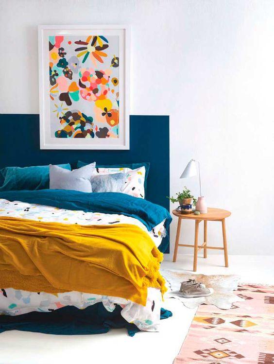 Tête de lit peinte