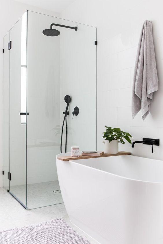 Types d'écrans de douche