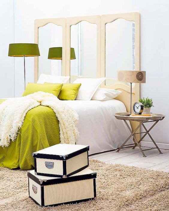 Têtes de lit avec écrans antiques