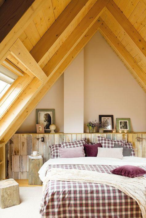 Chambres rustiques avec bois
