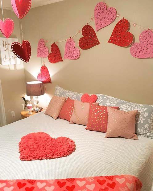 Des idées pour décorer la chambre la Saint Valentin