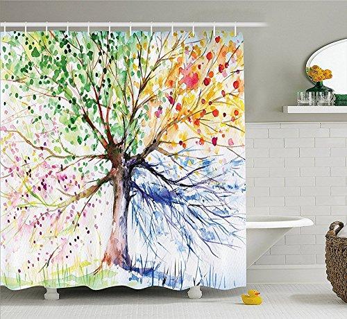 Rideaux de douche d'origine: arbre