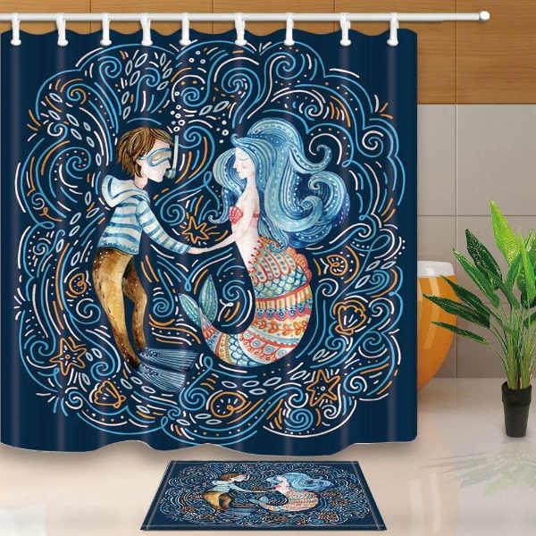 Rideaux de douche d'origine: sirène