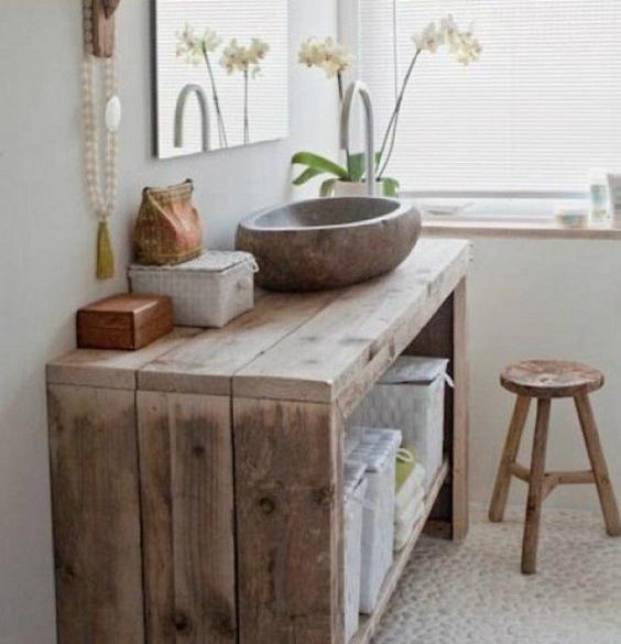 Plus de meubles de lavabo fabriqués avec des palettes