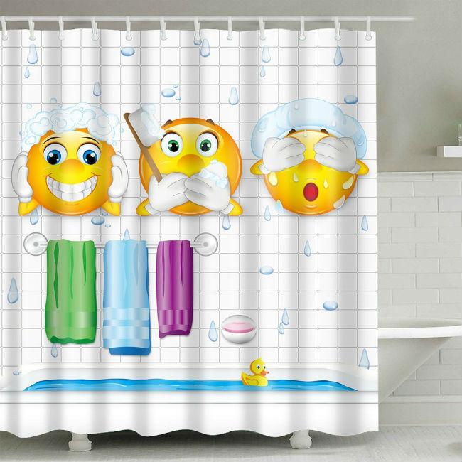 Rideaux de bain drôles