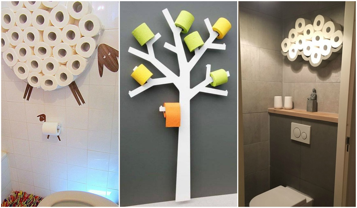 Manières de stocker le papier toilette dans la salle de bain