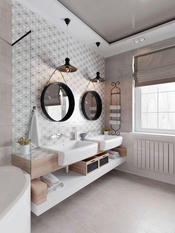 Idées de salles de bain partagées