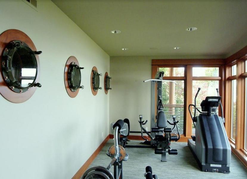 Hublot de gym à domicile