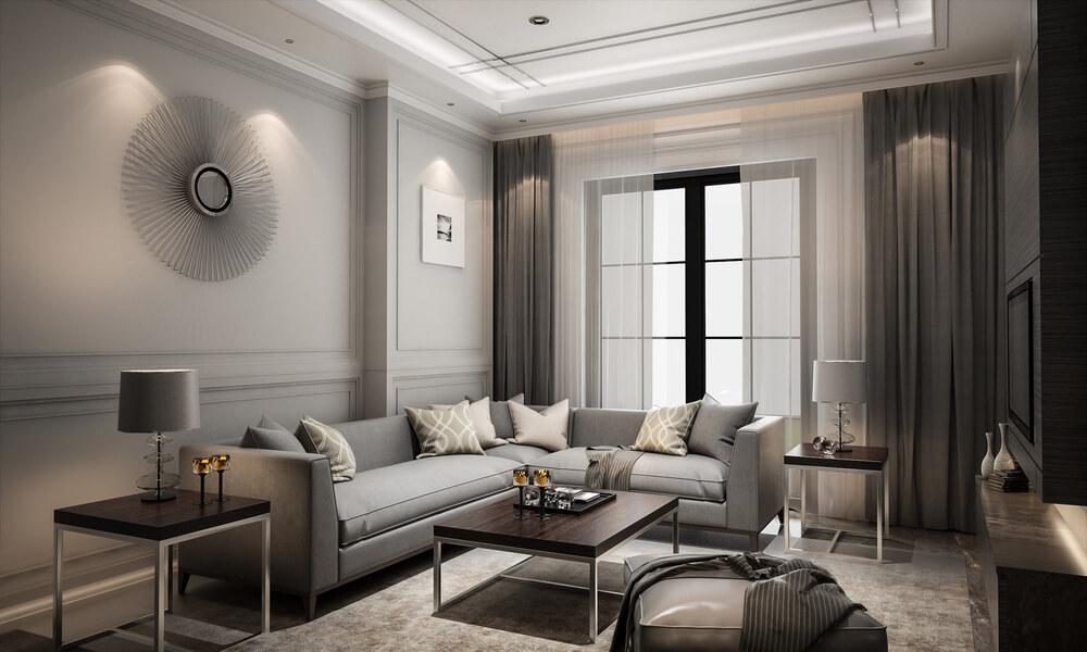 Les espaces de vie peuvent recréer l'élégance des suites de l'hôtel.