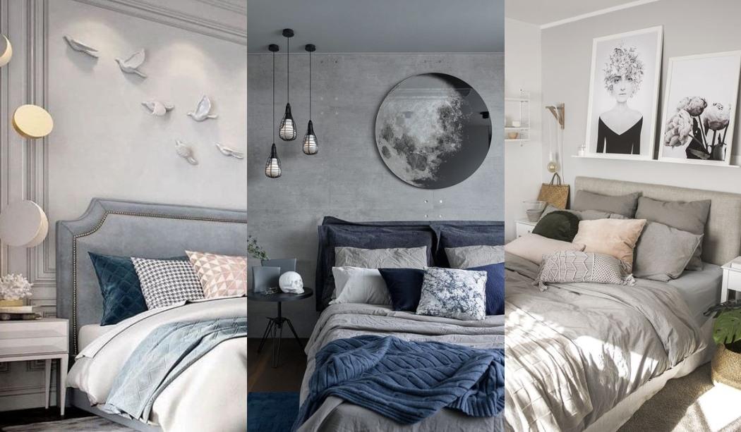 Inspiration pour décorer la chambre en gris