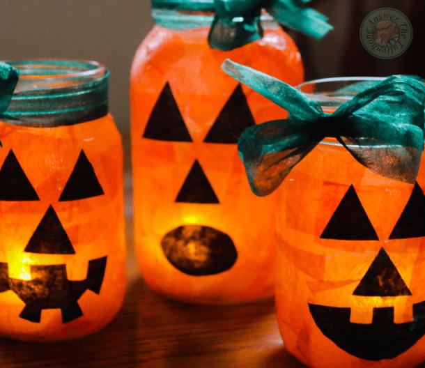 15 jolis pots de maçon Halloween bricolage (2e partie)