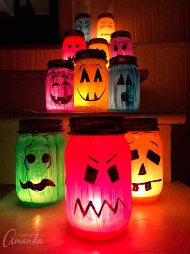 15 jolies bocaux Halloween Mason bricolage (partie 1)