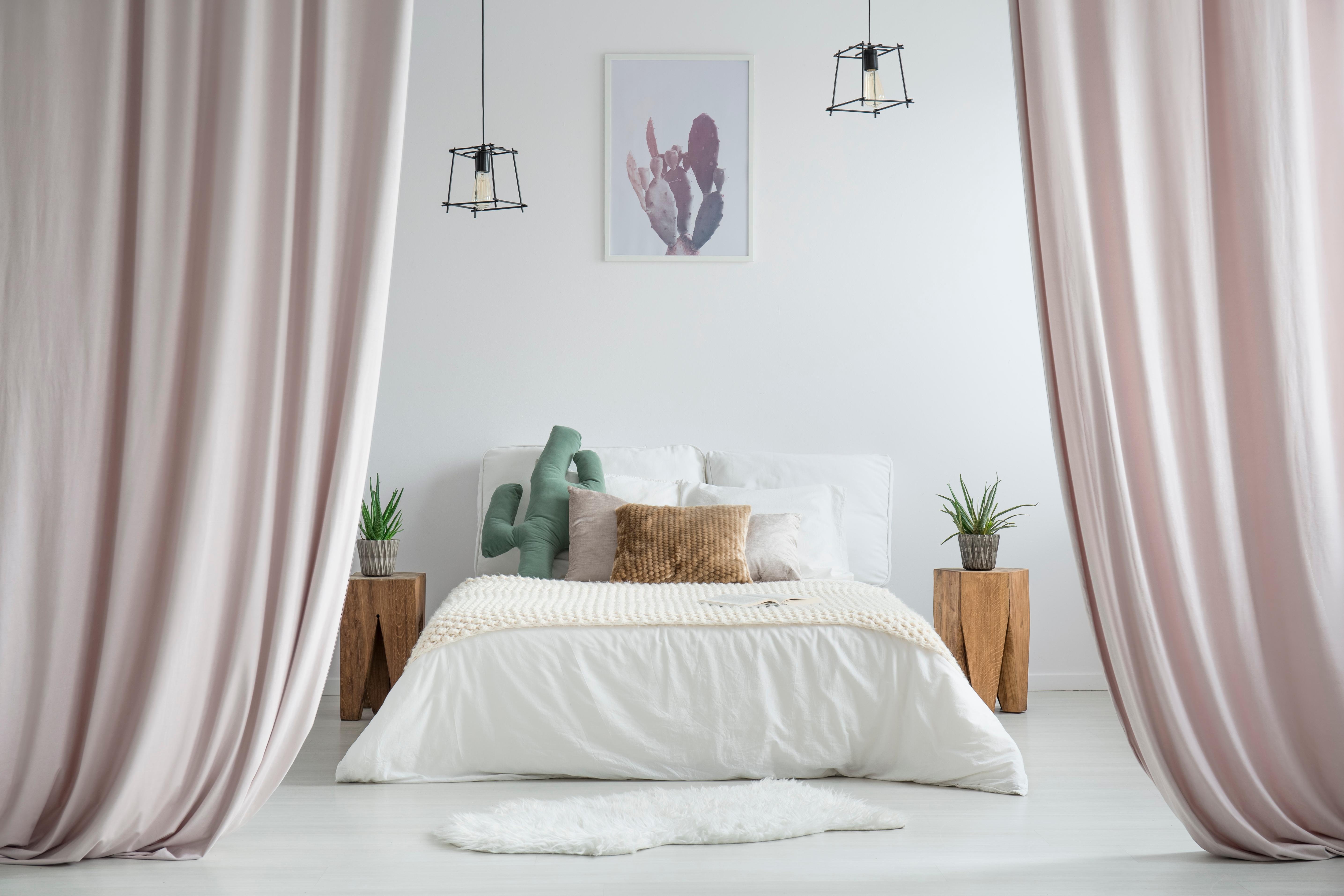 rideaux divisant la chambre
