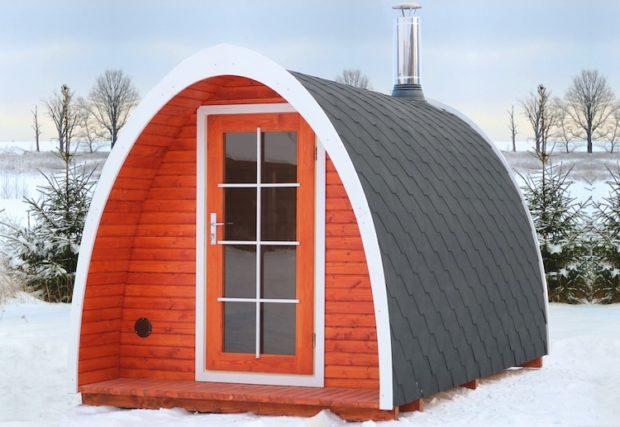 L'hiver arrive! Présentation de la minuscule maison Igloo Up to Grabs!