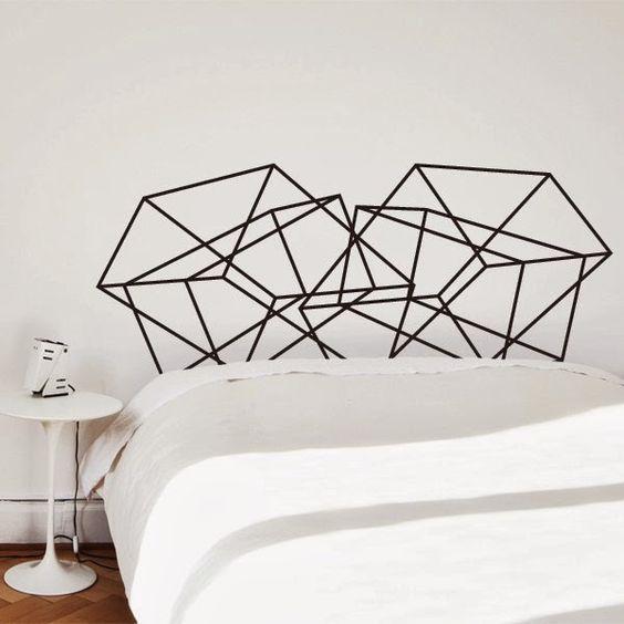 Tête de lit bricolage en Washi