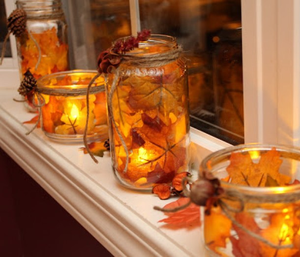 15 artisanat bricolage Mason Jar pour la saison d'automne (partie 2)