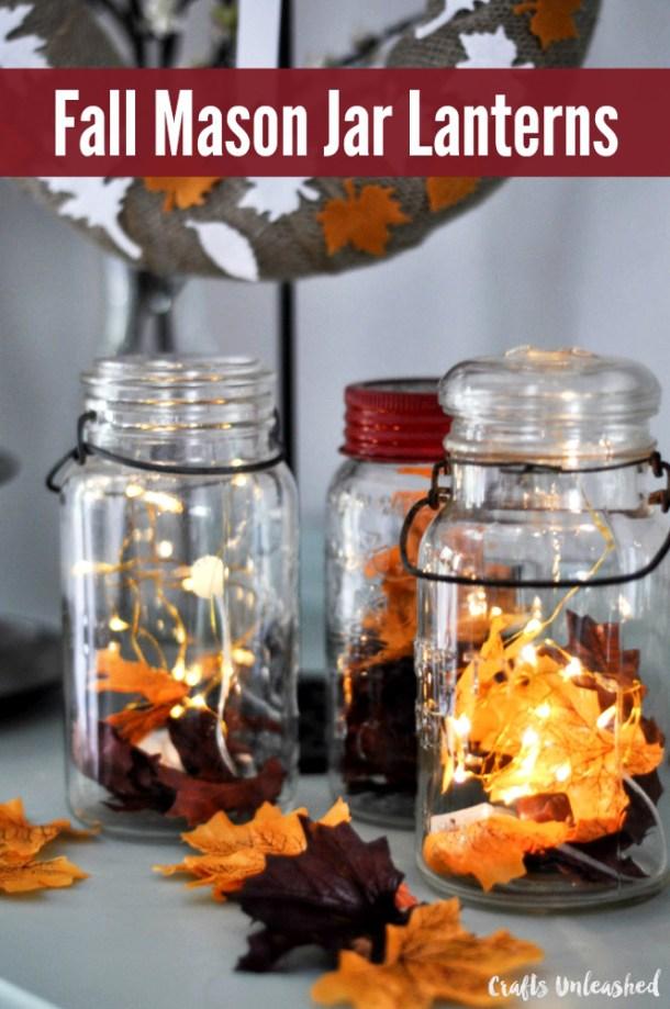 15 artisanat bricolage Mason Jar pour la saison d'automne (partie 1)
