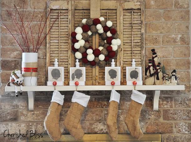15 bas de Noël faits main faciles (partie 1)
