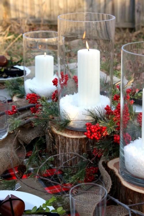 15 centres de table de Noël rustique bricolage