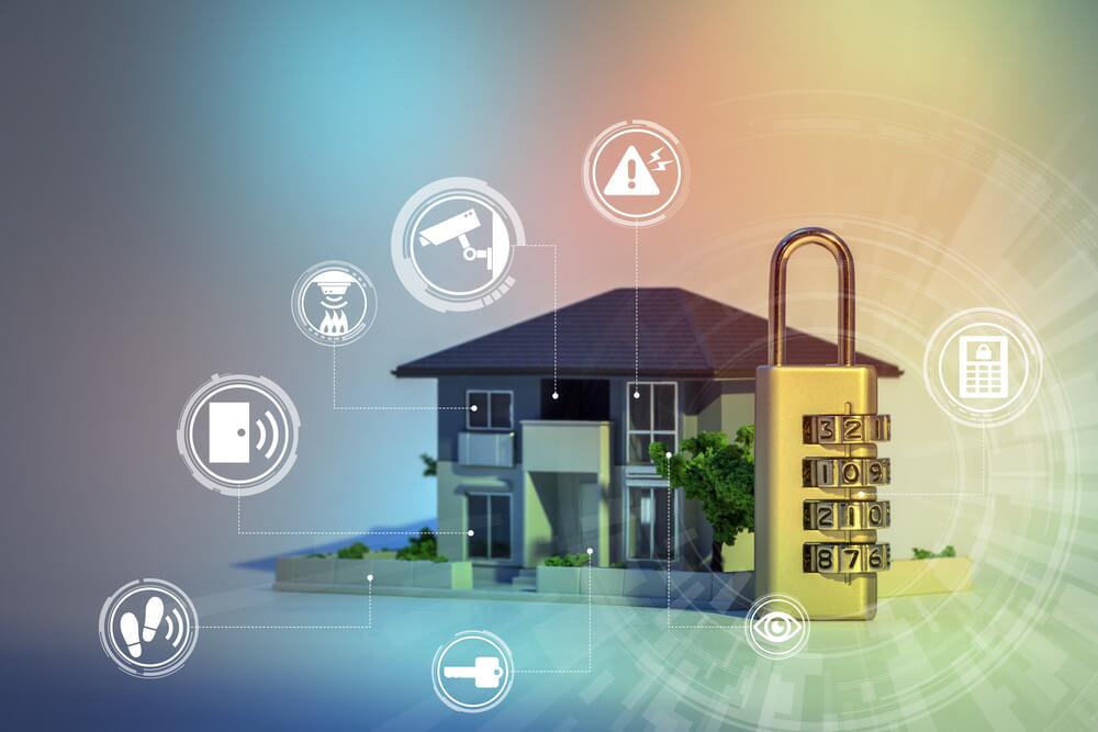 Concept de système de sécurité domestique
