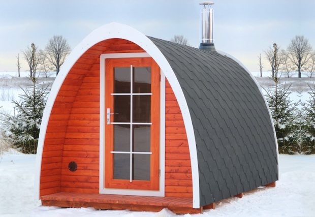 L'hiver arrive! Présentation de l'igloo Tiny House Up for Grabs!