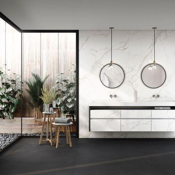Tendances salles de bain 2020 marbre