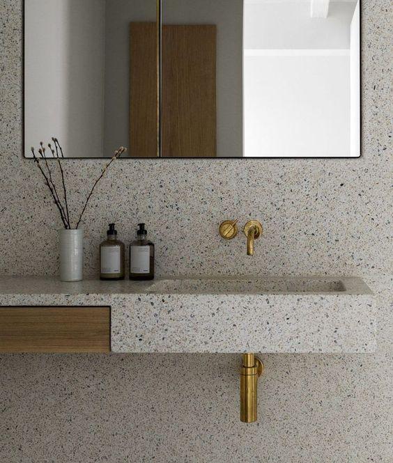 Tendances salles de bain 2020 pierres naturelles