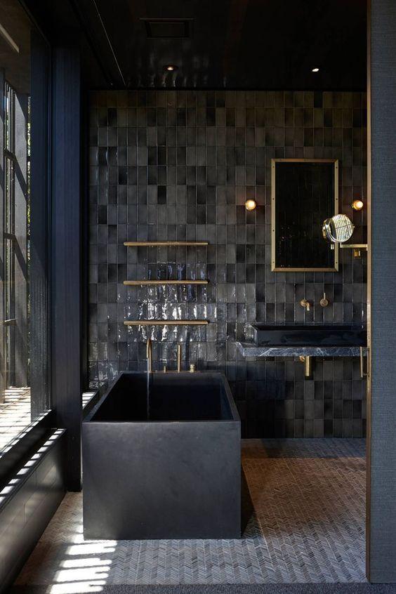 Salles de bain noires