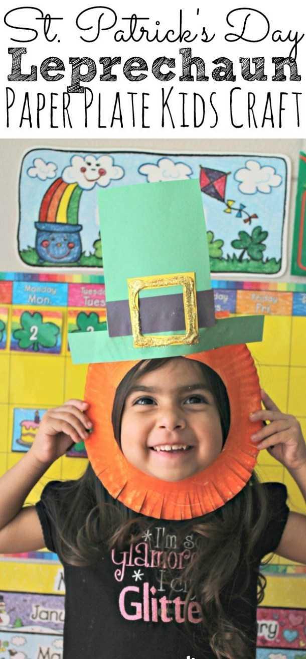 Artisanat facile de lutin de jour de St Patrick pour des enfants (partie 1)