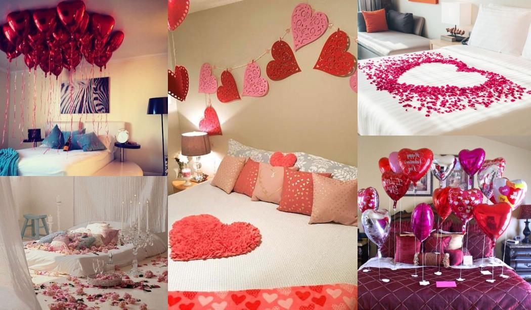 11 idées pour décorer la chambre le jour de la Saint Valentin