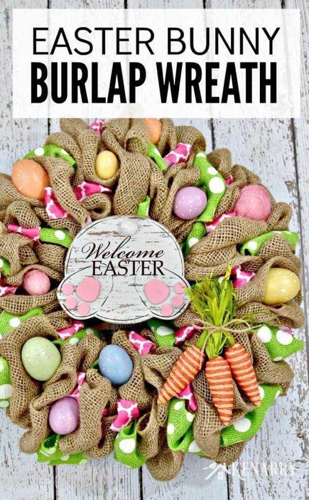 15 idées créatives de couronne de Pâques bricolage (partie 1)