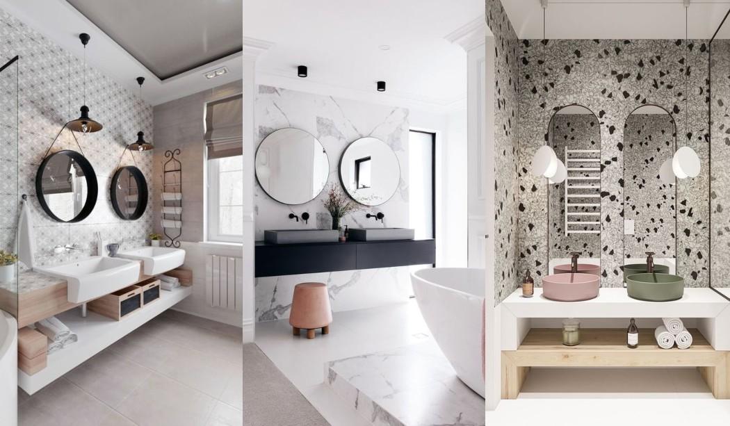 Idées de salles de bain avec deux lavabos et salles de bain partagées