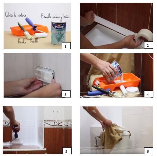 Peindre les carreaux de salle de bain étape par étape