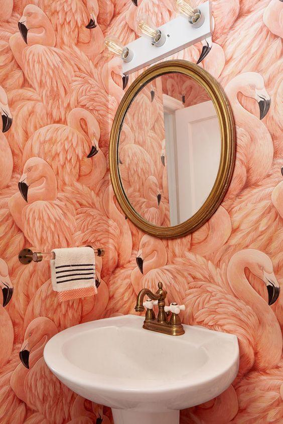 Salles de bain roses