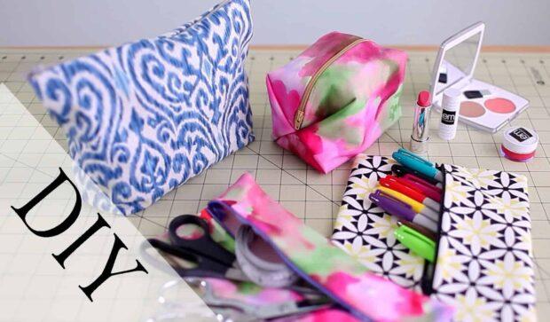 12 adorables sacs de maquillage bricolage