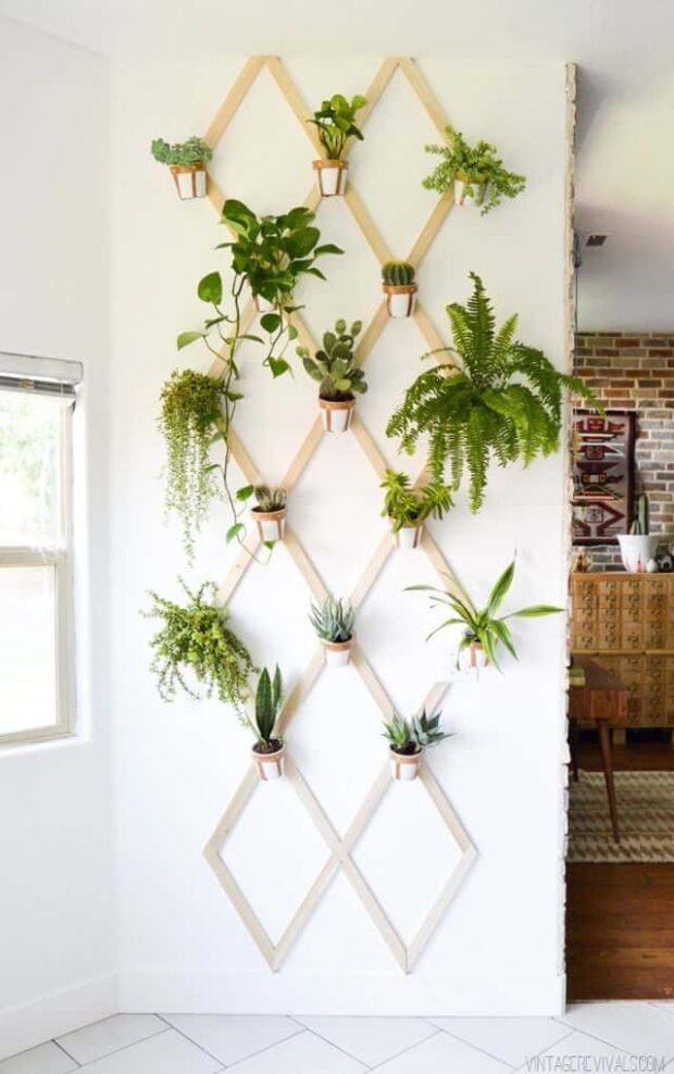 Jardins verticaux créatifs de bricolage pour votre maison