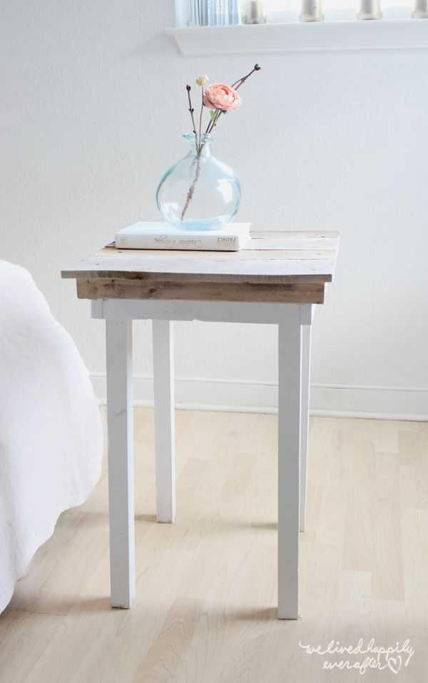 Idées de table de chevet bricolage pour les débutants créatifs