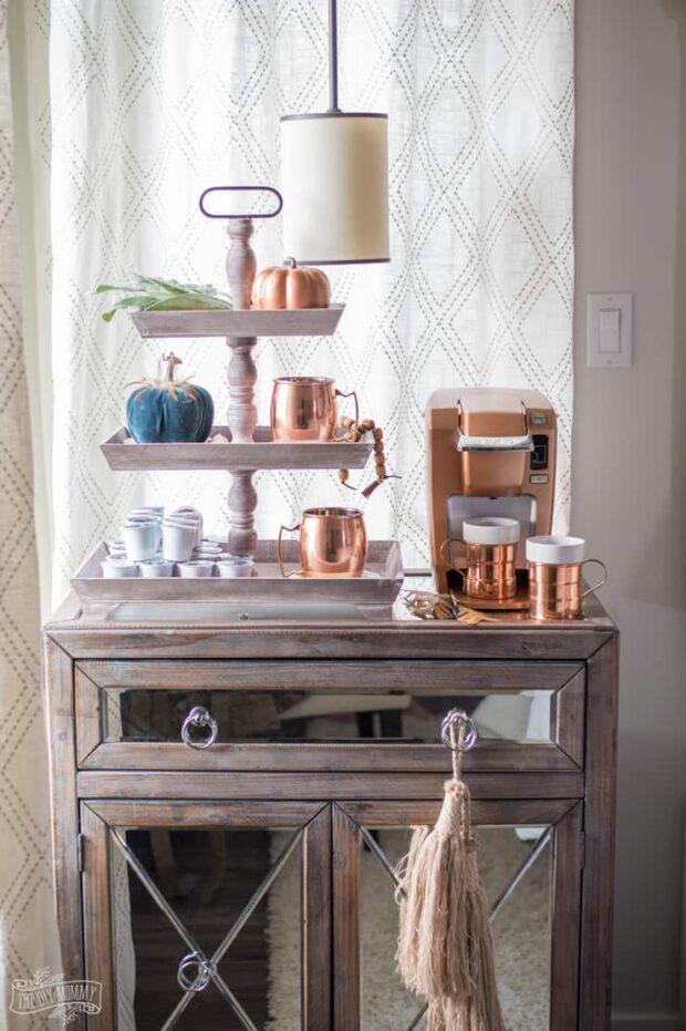 12 charmantes stations de café bricolage pour votre maison